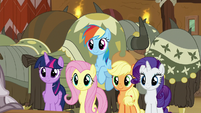 Main five appear behind Pinkie Pie S8E18