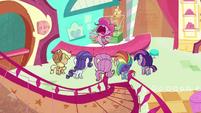 "Pinkie Pie shouts ""to the test kitchen!"" PLS1E1a"