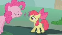Pinkie Pie talks to Apple Bloom S1E12