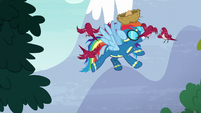 Rainbow gets attacked by birds S6E7