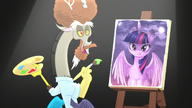 S05E22 Discord i namalowany przez niego portret Twilight