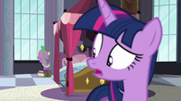 Spike about to retreat through the window S5E10