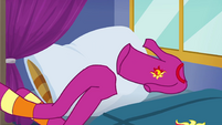 Sunset's pajamas tossed on the bed EGSBP