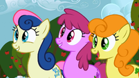 Sweetie Drops, Berryshine, and Golden Harvest impressed S2E15