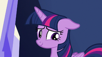 Twilight Sparkle looking embarrassed S9E14
