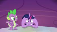 Twilight Sparkle starting to freak out S9E13