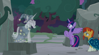 Twilight excited to meet Star Swirl the Bearded S7E25