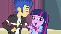 Twilight speaking awkwardly toward Flash EG2