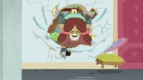 Yona bursts through a classroom wall S8E15