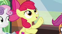 Apple Bloom telling the Hippogriffs' story S8E6