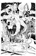 Comic issue 2 Dynamic Forces cover uncolored