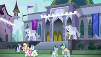 Exterior view of the Canterlot Library S9E5