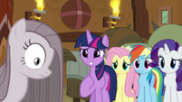 Pinkie Pie surprised by Twilight's words S8E18