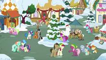 Ponies singing together in Ponyville square MLPBGE.png