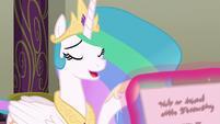 Princess Celestia about to answer S8E1