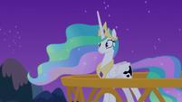 Princess Celestia realizes she's talking to herself S7E10