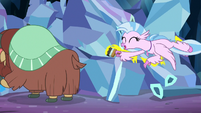 Silverstream painting excitedly S9E3