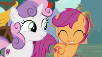 Sweetie Belle proud of Scootaloo S6E19