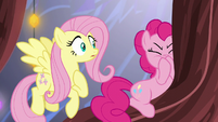 Pinkie Pie turns away from Fluttershy S5E19