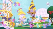 Ponies at the Summer Sun Celebration S4E01