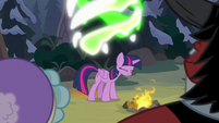 Queen Chrysalis transforms into Twilight S9E8