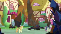 Sombrafied ponies walking through Ponyville S9E2