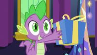 Spike giving a present to Sludge S8E24