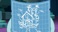 Treehouse blueprint in Ocellus' hooves S9E3