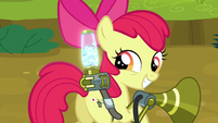 Apple Bloom happy with the twittermites she caught S5E04