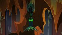 Chrysalis spits webbing at Grogar S9E24