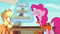 Pinkie Pie tries to eat the entire food tray S6E22