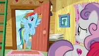Rainbow Dash enters the clubhouse S9E12