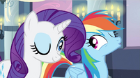 Rarity & Rainbow Dash wink S2E25