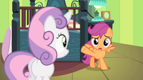 "Scootaloo ""come back and check on you"" S4E17"