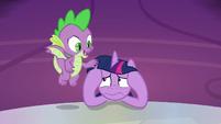 Spike calming down Twilight Sparkle S9E13