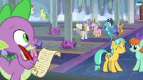 Spike notices Princess Ember S8E1