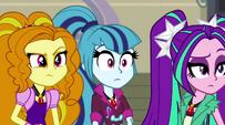 The Dazzlings looking surprised EG2