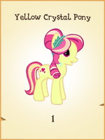 Yellow Crystal Pony MLP Gameloft.png