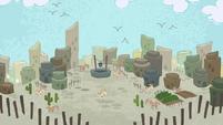 Desert village in Pinkie Pie's story S7E11