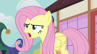 Fluttershy stands up to the pony crowd S7E14