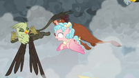 Griffon sticks her tongue out at Cozy Glow S9E25