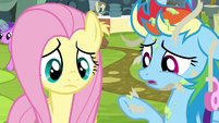 Rainbow Dash covered in glue and tape S4E22