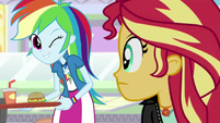 "Rainbow Dash winking at ""SunShim"" EGS3"