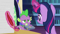 Spike approaches with a box of quills S7E22