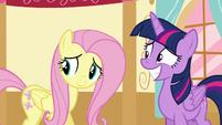 Twilight and Fluttershy hear Applejack S5E11