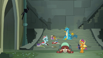 Young Six hiding out in the old castle S8E2