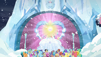 Crowd cheering for Flurry Heart S6E2