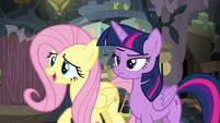 Fluttershy delighted to meet Cattail S7E20