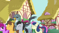 Ponyville ponies hold a parade for Gabby S6E19