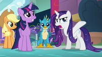 Rarity -what is the meaning of all this water-!- S8E21